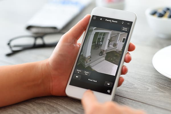 Control4 Security and Video Surveillance to iphone real-time