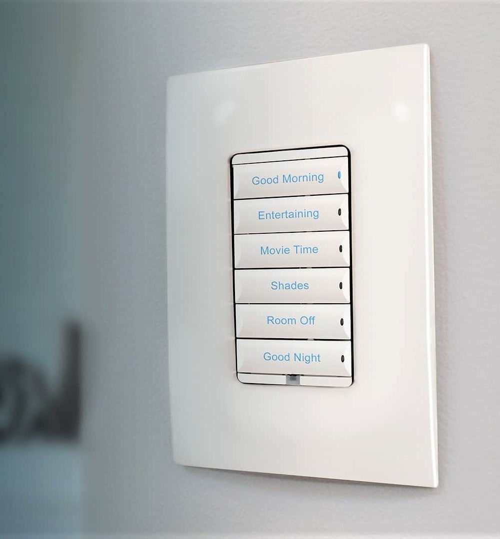 Automated Living Solutions - Control4 interchangeable smart lighting keypad